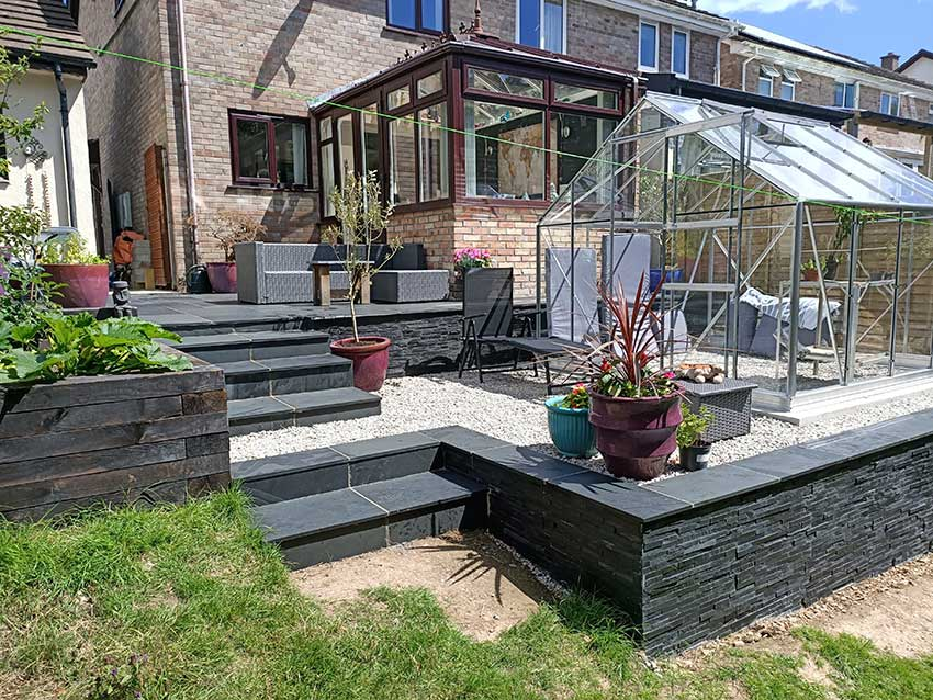 terracing and slate patio2834